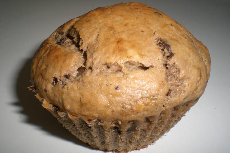 Muffins chocolat-banane aux noix
