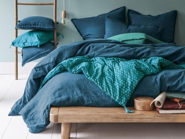 Linge de lit rêve de lin de Blanc Cerise