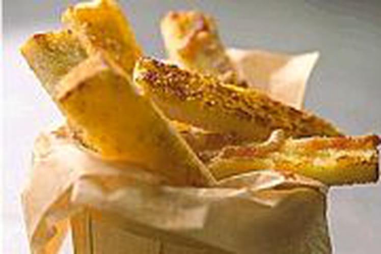 Allumettes de fromage aux lardons