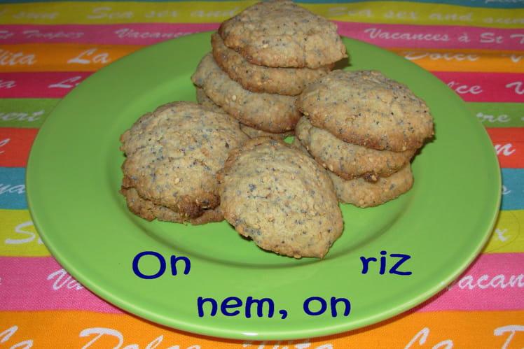 Cookies à la vanille, au sésame et au pavot