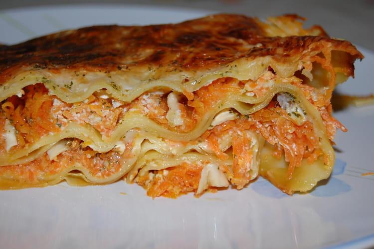 Recette de lasagnes aux carottes et ch vre la recette facile - Lasagne facile et rapide ...