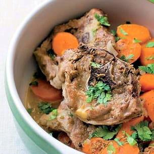collier d'agneau aux carottes et au cumin
