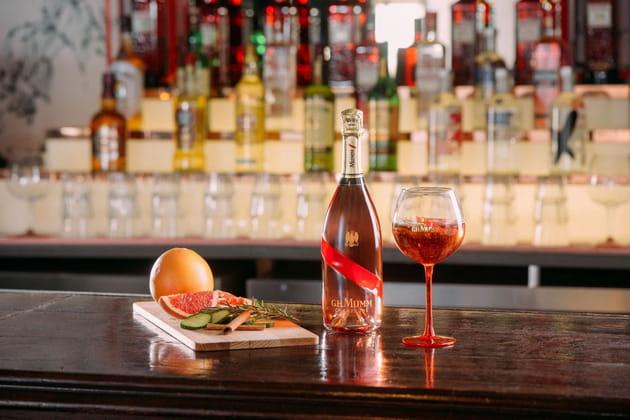 Le champagne rosé de G.H.Mumm