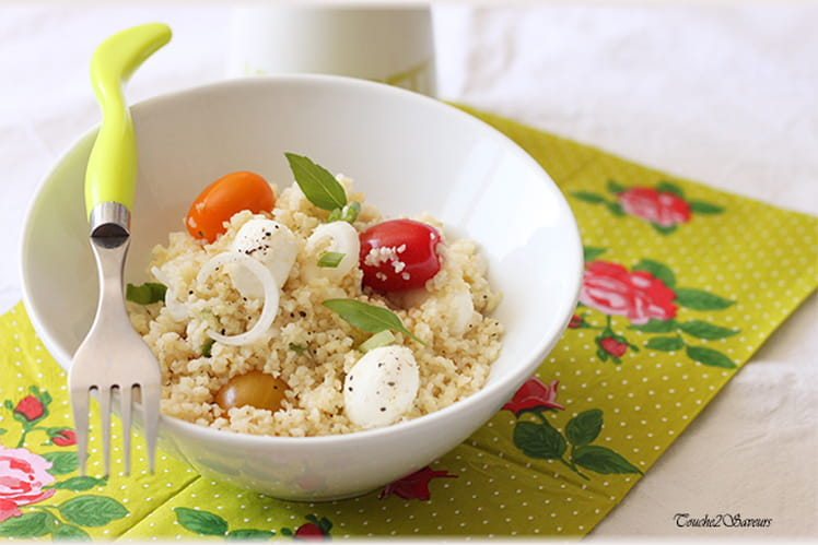 Salade de boulghour, tomate et mozzarella