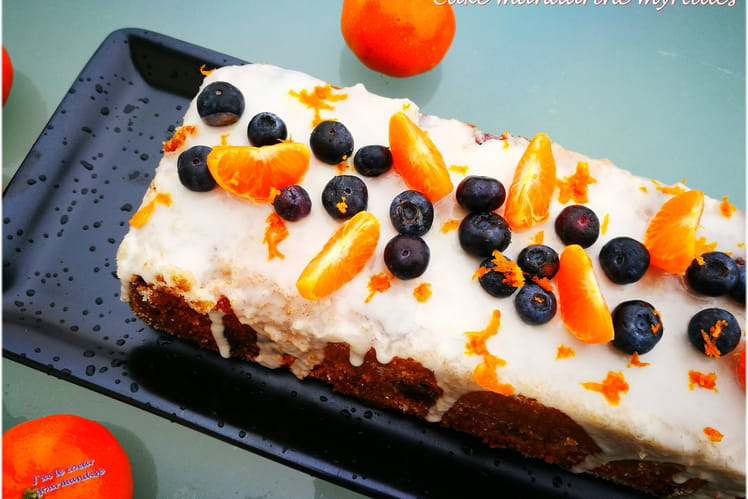 Cake mandarine myrtilles
