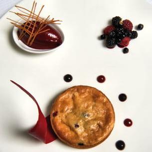 tarte soufflée blue belle, sorbet de fruits rouges
