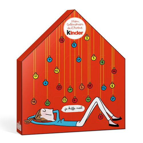 calendrier de l 39 avent kinder by soledad pour monoprix. Black Bedroom Furniture Sets. Home Design Ideas
