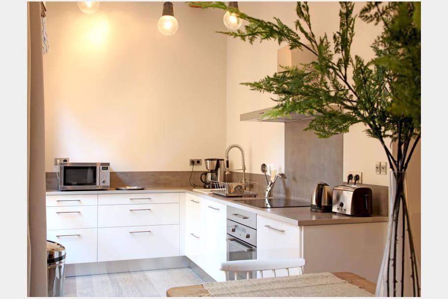 cuisine discr te. Black Bedroom Furniture Sets. Home Design Ideas