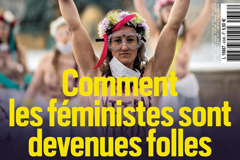 """Valeurs Actuelles lance l'alerte: """"les féministes sont devenues folles"""""""