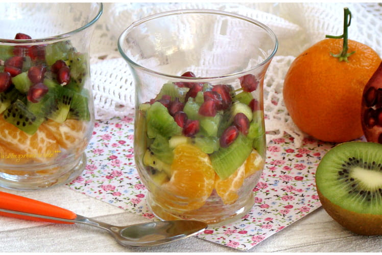 Salade de fruits en verrines