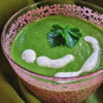 soupe verte crue et creme fluide vegetale 100
