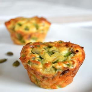 muffins aux oeufs et poivrons verts