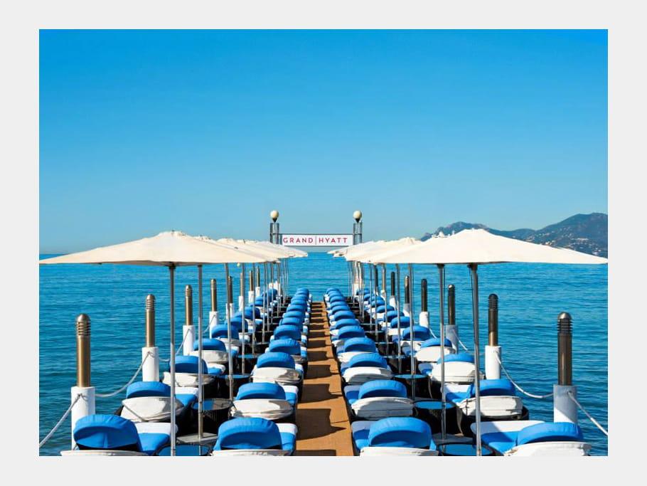 Le ponton du Grand Hyatt Cannes Hôtel Martinez