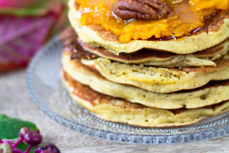 Pancakes à la pomme et farine de lupin