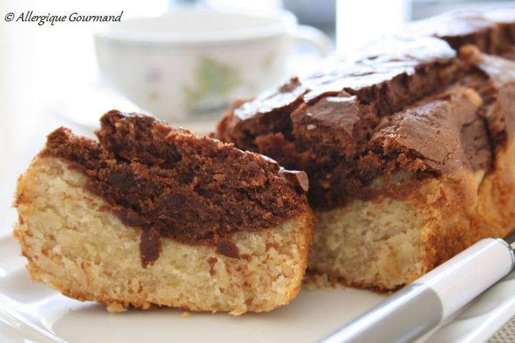 Gâteau yaourt-banane-choco bio sans oeuf ni gluten
