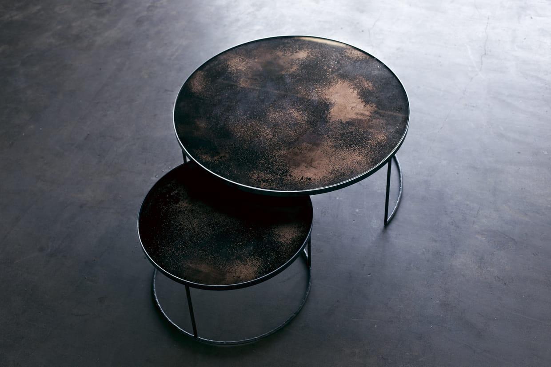 tables basses par dawn sweitzer pour notre monde chez sophie seguela int rieurs. Black Bedroom Furniture Sets. Home Design Ideas