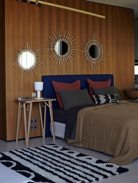 Chambre à coucher naturelle et vintage