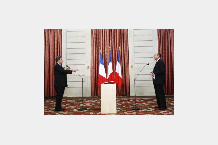 Jacques Chirac et Jean-Louis Debré