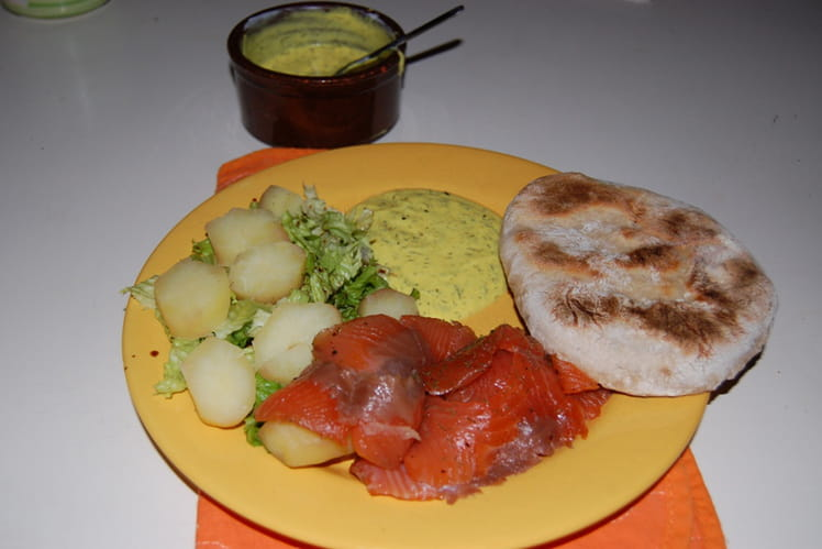 Saumon mariné à la suédoise