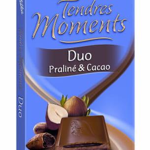 milka tendres moments duo praliné et cacao