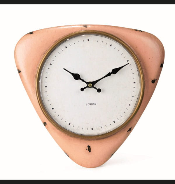Horloge triangulaire vintage d'Alinéa