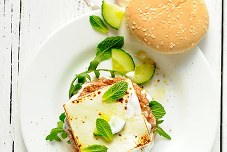 Croque&Burger, agneau, concombre et yaourt