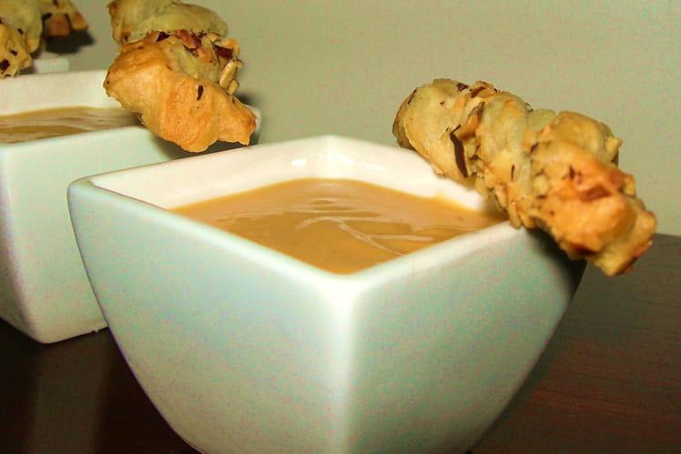 Crème de haricots et potiron au gorgonzola