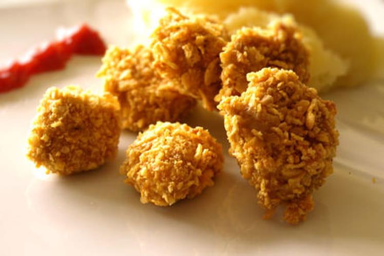 Nuggets croustillants panés aux corn-flakes
