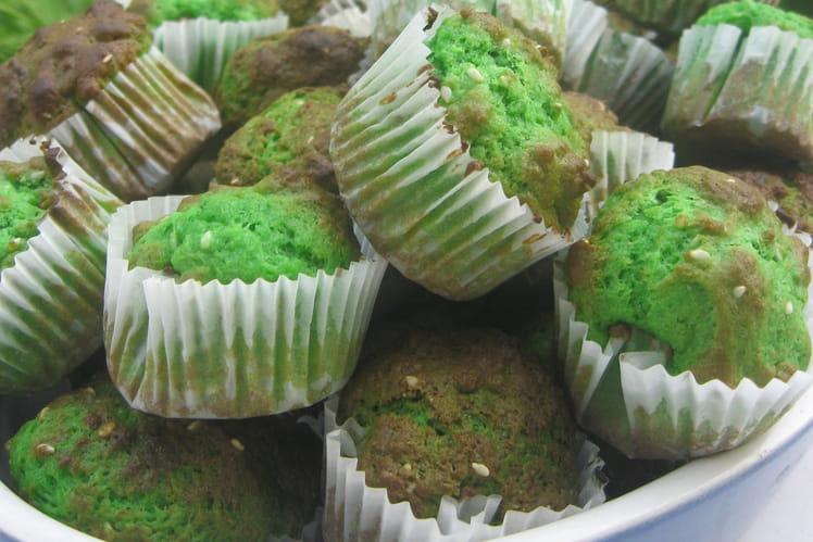 Mini-muffins pandan sésame