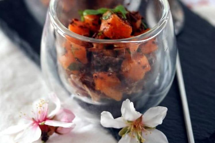 Verrines de bœuf bourguignon et ses carottes
