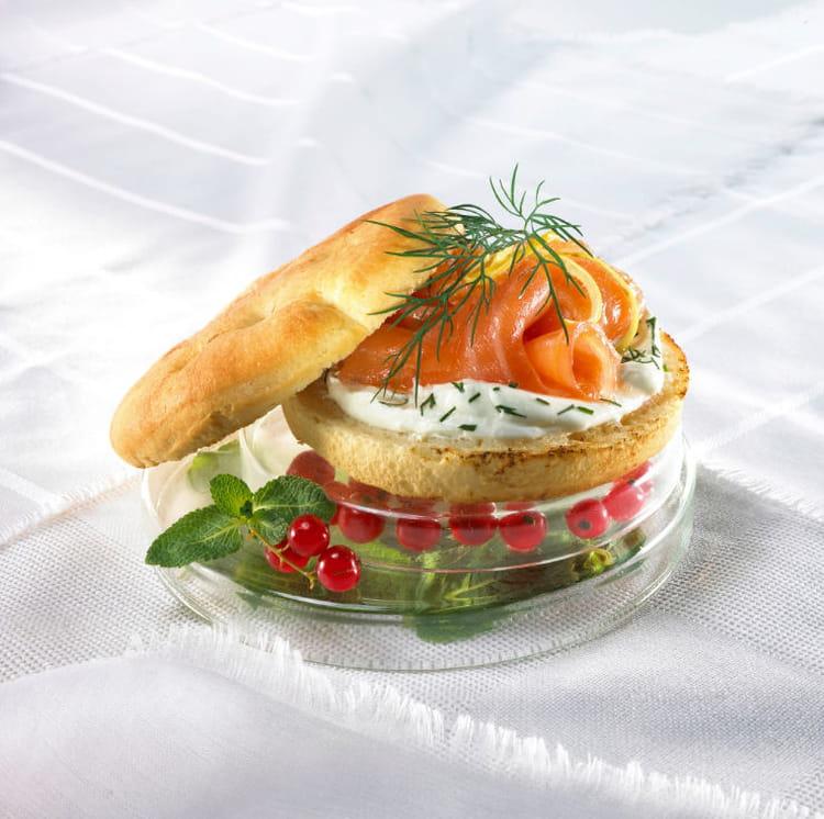 Recette de focaccia au saumon fum sauce l 39 aneth et au for Cucina norvegese