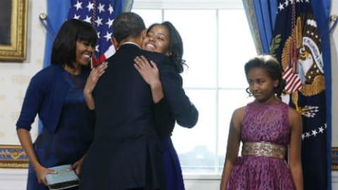 Barack Obama : superbe portrait de famille lors de son investiture