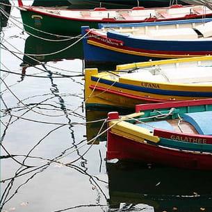 bateaux à collioure, languedoc-roussillon