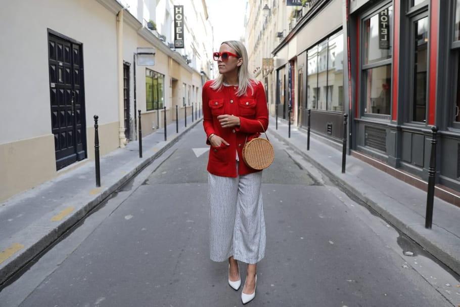 le look blogueuse de la semaine jacey duprie une am ricaine paris. Black Bedroom Furniture Sets. Home Design Ideas