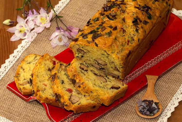 Cake aux algues et tofu fumé
