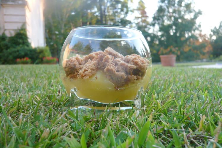 Crumble au citron en verrine