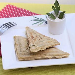 gaufres vegan aux échalotes, à la châtaigne et au cumin (sans gluten)
