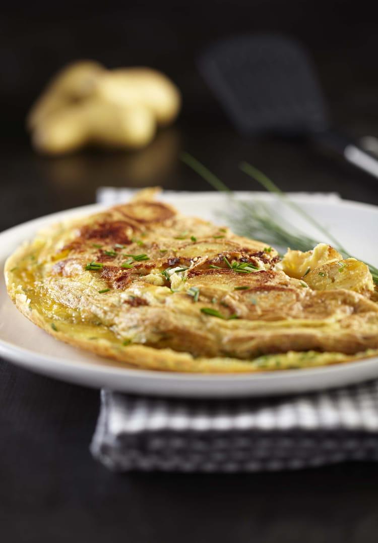 recette omelette de pommes de terre ratte du touquet la recette facile. Black Bedroom Furniture Sets. Home Design Ideas
