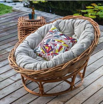 loveuse en rotin par kok maison. Black Bedroom Furniture Sets. Home Design Ideas