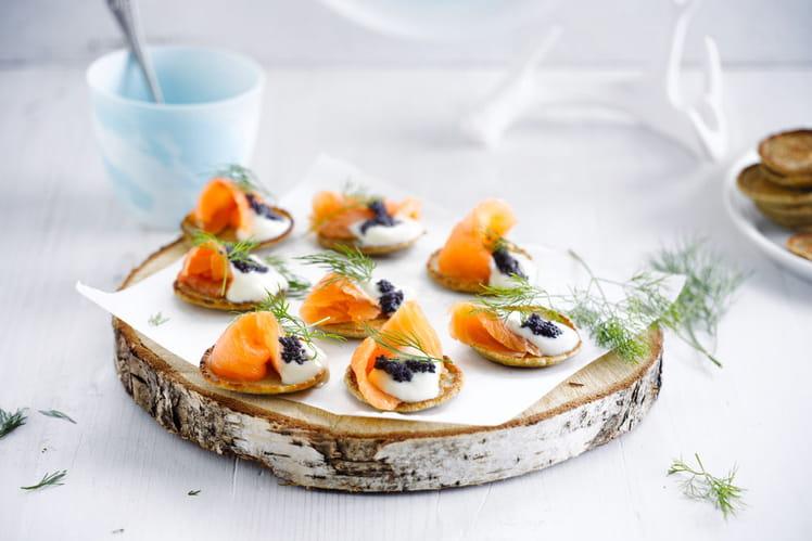 Blinis de saumon