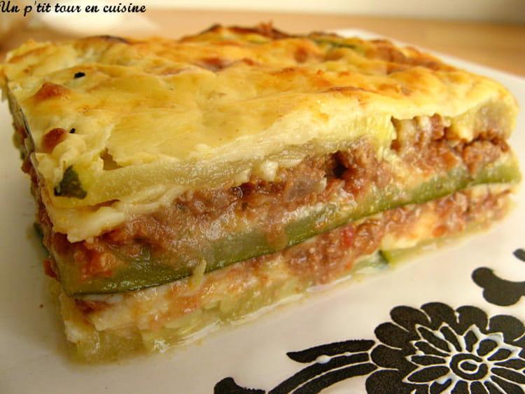 recette de lasagnes de courgettes sans feuilles de