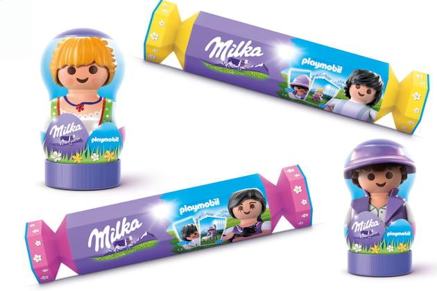 Les boîtes Milka x Playmobil en chocolat