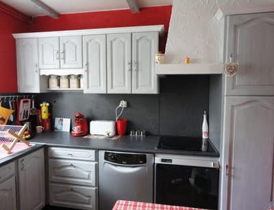 du mobilier simplement repeint et la cuisine change de style !