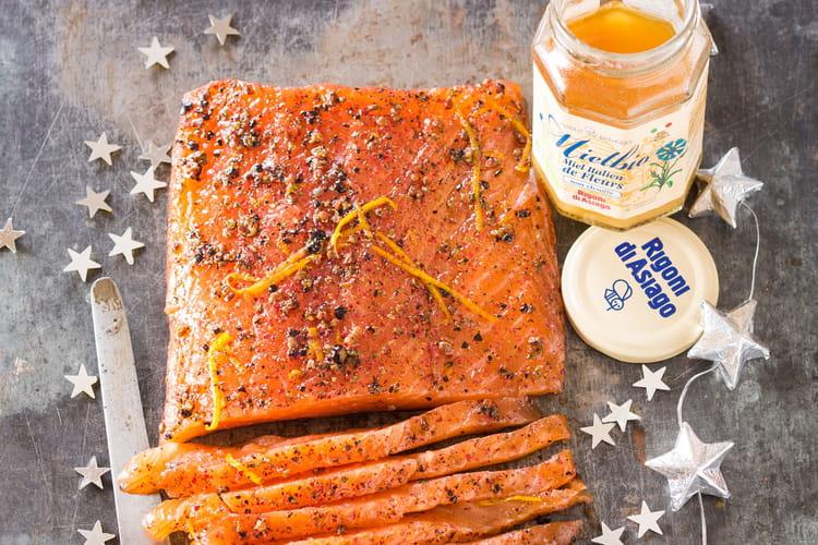 Saumon Gravlax au Mielbio miel d'acacia