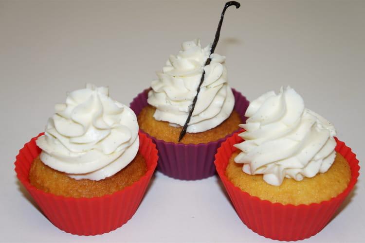 Cupcake aux pépites de chocolat et à la vanille