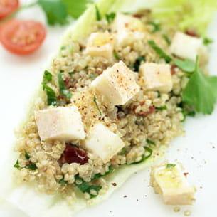 taboulé de quinoa au reblochon
