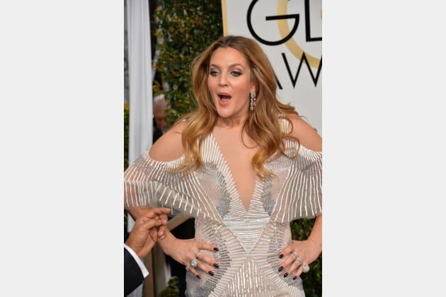 Drew Barrymore a pris la pose
