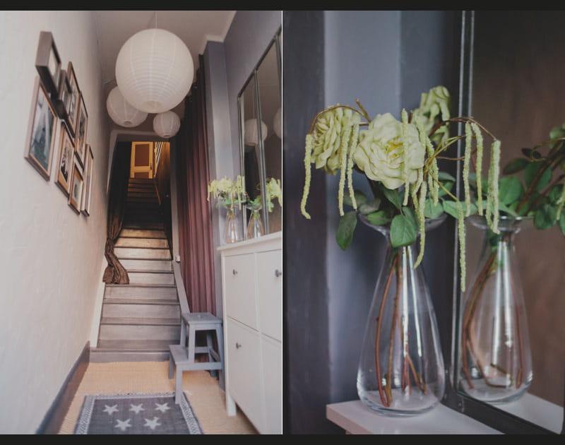 Entrée en escalier