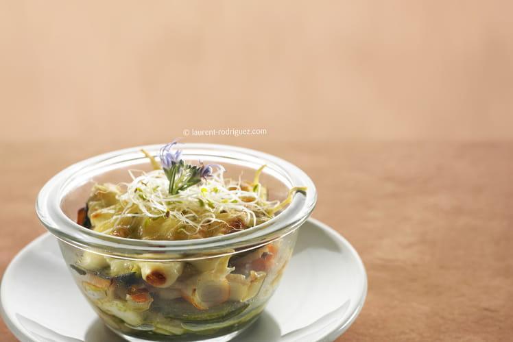 Lasagnes de courgettes au surimi