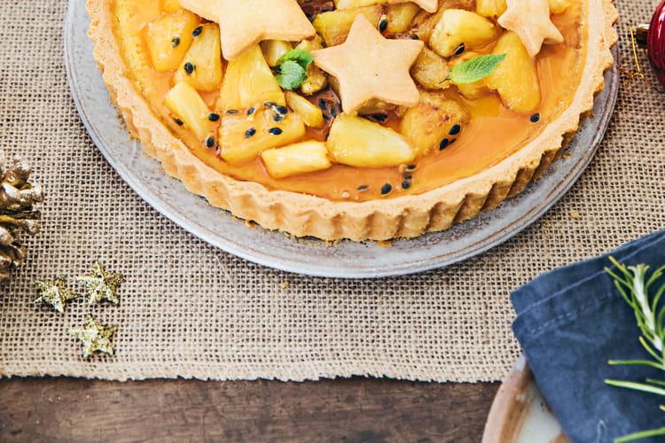 Tarte à l'ananas rôti et aux fruits de la passion